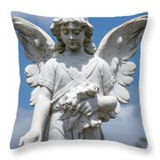 Angel Tombstone Series Throw Pillow