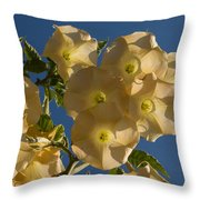 Angel Trumpets In The Sky Throw Pillow