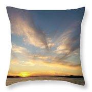 Angel Wing Sunset Throw Pillow