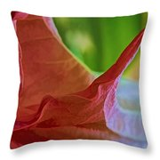 Angel Wing Variation Watercolor Throw Pillow