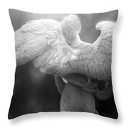 Angel Wings - Dreamy Surreal Angel Wings Black And White Fine Art Photography Throw Pillow