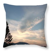 Angel Wings In Sky Clouds Throw Pillow