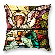 Angel With A Chalice Throw Pillow