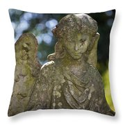 Angel With Broken Arm II Cave Hill Cemetery Louisville Kentucky  Throw Pillow