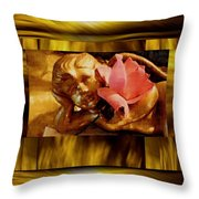 Angel With Floral On Clouds Throw Pillow