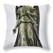 Angel With Trumpet Throw Pillow