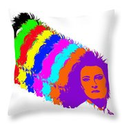 Angela Rainbow-2 Throw Pillow