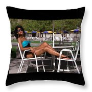 Angelachairs Throw Pillow
