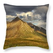 Angelcomb Mountain Lit By Late Throw Pillow