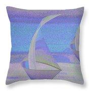 Angelfish3 Throw Pillow