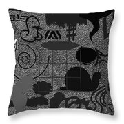 Angelic Bird Visiting Mother Earth In The Evening Throw Pillow