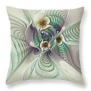 Angelic Entities Throw Pillow by Deborah Benoit