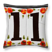 Angelic Numbers By Diana Sainz Throw Pillow