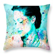 Angelina Jolie Heart And Soul Throw Pillow