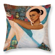 Angelique Earthangel From France Throw Pillow