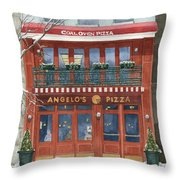 Angelo's On 57th Street Throw Pillow