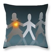 Angels Among Us3 Throw Pillow