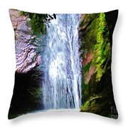 Angels Bathing Room Throw Pillow