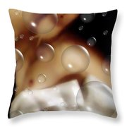 Angels Blowing Bubbles Throw Pillow