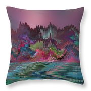 Angels' City Throw Pillow