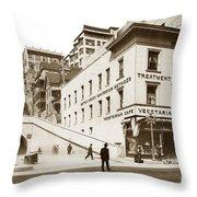 Angel's Flight Railway Los Angeles California  Circa 1908 Throw Pillow