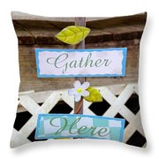 Angels Gather Here Throw Pillow