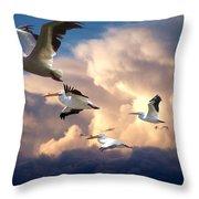 Angels In Flight Throw Pillow