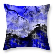 Angels In Gothica Throw Pillow