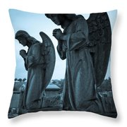 Angels In Prayer Throw Pillow by Amy Cicconi