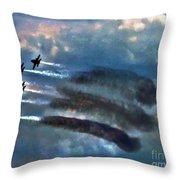 Angels Inna Clouds Throw Pillow