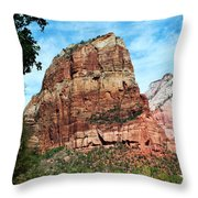 Angel's Landing Throw Pillow