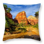 Angel's Landing Throw Pillow by Greg Norrell