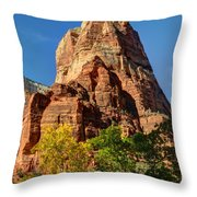 Angel's Landing In Fall - Zion National Park  Throw Pillow