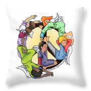 Angels Of Peace Throw Pillow by Sarah Batalka