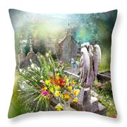 Angels Of Stone Throw Pillow