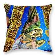 Angels On High Throw Pillow