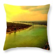 Angels Over Detroit Throw Pillow