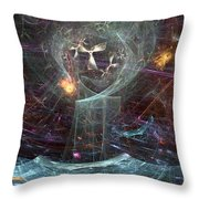 Angels Peril On The Sea Throw Pillow