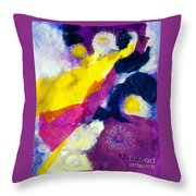 Angels Surround Me Throw Pillow