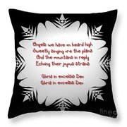 Angels We Have Heard On High Snowflake Throw Pillow