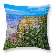 Angel's Window At Cape Royal On North Rim Of Grand Canyon-arizona Throw Pillow