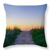 Angelsea Beach Path Before Sunrise Throw Pillow