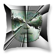 Anger Mask Throw Pillow