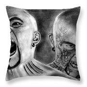 Anger Throw Pillow