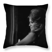Angie Dickinson Homage As Feathers In Rio Bravo Old Tucson Arizona 1968 Throw Pillow