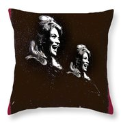 Angie Dickinson Laughing Collage Young Billy Young Set Old Tucson Arizona 1968-2013 Throw Pillow