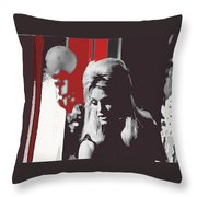 Angie Dickinson On Stage Number 2 Young Billy Young Set Old Tucson Arizona 1968-2013 Throw Pillow