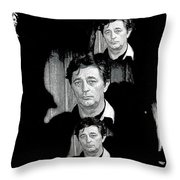 Angie Dickinson Robert Mitchum Collage Young Billy Young Set Old Tucson Arizona 1968-2013 Throw Pillow