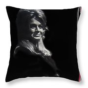 Angie Dickinson Smiling Young Billy Young Set Old Tucson Arizona 1968-2013 Throw Pillow