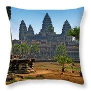 Angkor Afternoon Throw Pillow